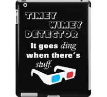 Doctor Who - Timey Wimey Detector 3D Glasses iPad Case/Skin