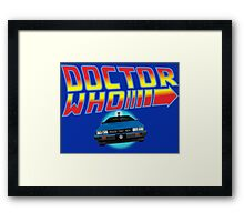 Back to Doctor Who Mash Up with Type 40 Delorean Framed Print