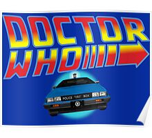 Back to Doctor Who Mash Up with Type 40 Delorean Poster