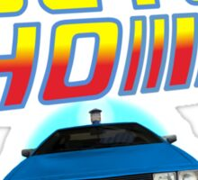 Back to Doctor Who Mash Up with Type 40 Delorean Sticker