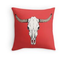 Cow Skull Throw Pillow