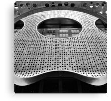 """Perforated Steel"". Circular Façade Study # 2. Canvas Print"