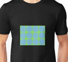 Sky blue polka dots with lime Unisex T-Shirt