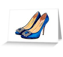 Manolo Blue Greeting Card