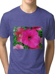 Vibrant Pink Petunia Macro Tri-blend T-Shirt