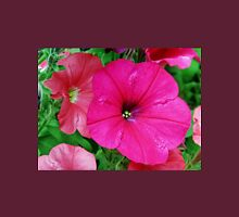 Vibrant Pink Petunia Macro Womens Fitted T-Shirt