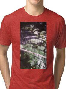 Tree Frog Sitting on a Leaf Tri-blend T-Shirt