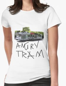 angry tram Womens Fitted T-Shirt
