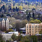 Eugene, Oregon, City Scape by scenebyawoman