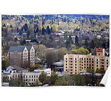 Eugene, Oregon, City Scape Poster