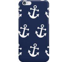 Anchor Away - White iPhone Case/Skin