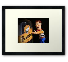 Woody's source of happiness. Framed Print