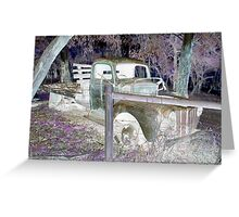 Reverse Truck Greeting Card