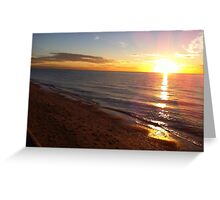 Sunset Coast Greeting Card
