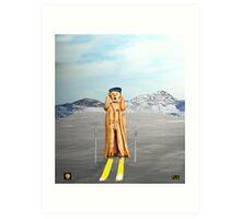 The Scream World Tour Skiing  Art Print