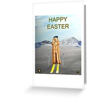 The Scream World Tour Skiing Happy Easter Greeting Card