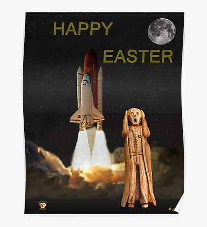 The Scream World Tour Space Shuttle Happy Easter Poster