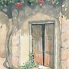 Old Doorway with Bougainvillea by ian osborne