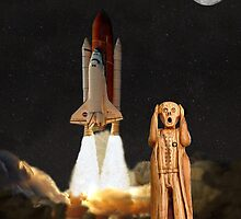 The Scream World Tour Space Shuttle Lift Off by Eric Kempson