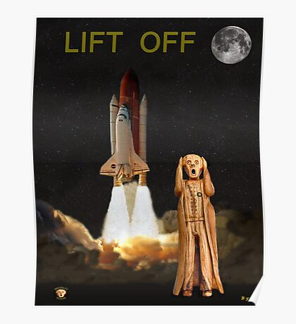 The Scream World Tour Space Shuttle Lift Off Poster