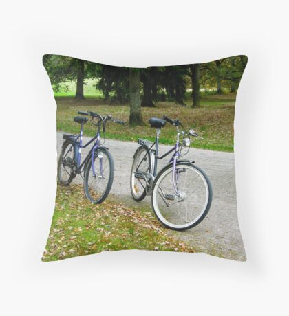 Let's go for a ride in that lovely park... Throw Pillow