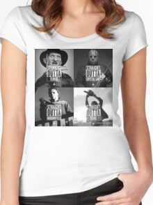 Horror Foursome Women's Fitted Scoop T-Shirt