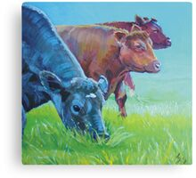 Field of Dreams - Acrylic painting three cows Canvas Print