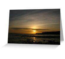 Sunset at Kimmeridge 24-02-11 Greeting Card