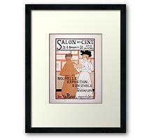 Armand Rassenfosse Salon affiche 2 Rassenfosse Framed Print