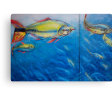 Fish on a Wall Canvas Print
