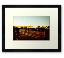 As the sun goes down... Framed Print