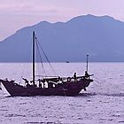 Fishing boat  Hong Kong waterways. by johnrf