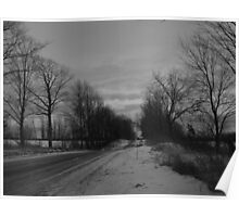 Moody Winter- Black and White Poster