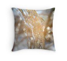 Glitter and Grass Throw Pillow