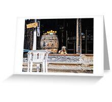 Tavern dog with oranges Greeting Card