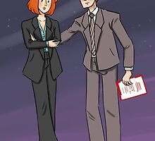 Scully & Mulder by Huffleclaw
