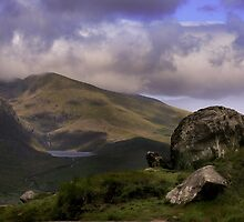 An Expansive Irish Landscape, Rocky Scene  by miradorpictures