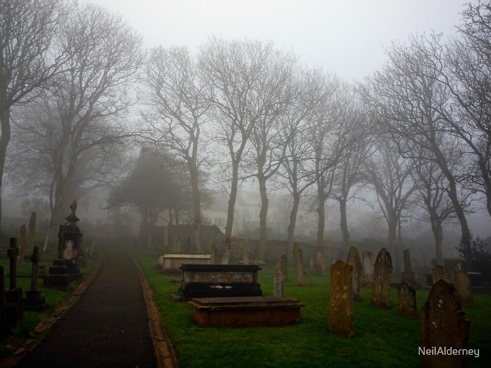 Alderney's Graveyard in the Fog by NeilAlderney