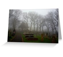 Alderney's Graveyard in the Fog Greeting Card