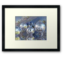 Brand new worlds Framed Print