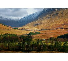 On the road to Glen Coe Photographic Print