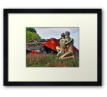 Checkendon Sculpture – The Nuba Embrace - HDR Framed Print