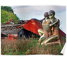 Checkendon Sculpture – The Nuba Embrace - HDR Poster