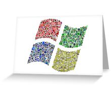 Classic Icons Windows Logo Greeting Card