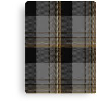 00526 Black Onyx Tartan  Canvas Print