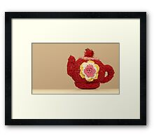knitted teapot Framed Print
