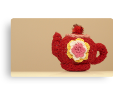 knitted teapot Canvas Print