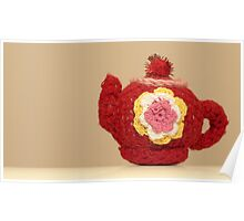 knitted teapot Poster