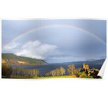 Rainbow over Loch Ness.  Poster