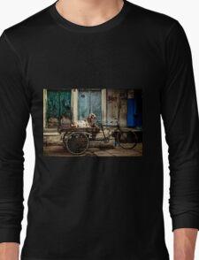 Goat on Wheels Long Sleeve T-Shirt